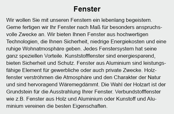 Fenster in  Christinenthal